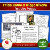 Frida Kahlo & Diego Rivera Activity Pages