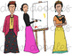 Frida Kahlo Digital Clip Art Set