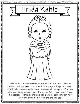 Frida Kahlo Famous Artist Informational