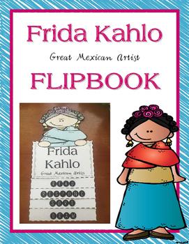 Frida Kahlo Flip Book Activity