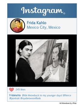 Frida Kahlo Instagram - Artist Instagram Series