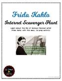 Frida Kahlo Internet Scavenger Hunt Information Web Quest