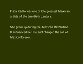 Frida Kahlo Introduction Presentation