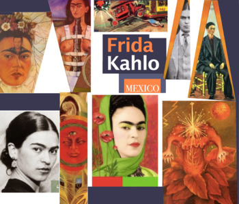 Frida Kahlo - Mexican Painter - Naive Primitive Art - FREE POSTER