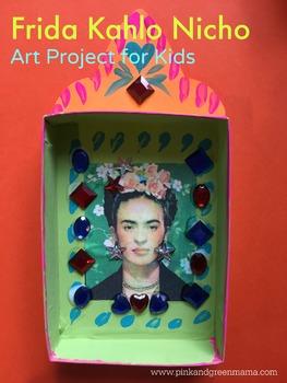 frida kahlo nicho shadowbox art project lesson plan tpt