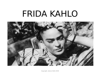 frida kahlo presentation and self portrait spanish project by senor muth