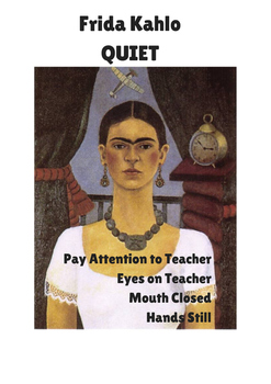 Frida Kahlo Quiet & Van Gogh Listening Posters