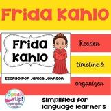 Frida Kahlo Reader Organizer, & Timeline {En español}