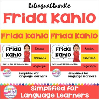 Frida Kahlo Readers & timelines in English & Spanish {Bilingual version}