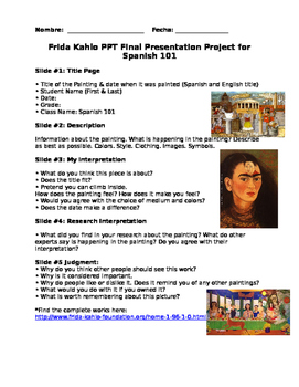 Frida Kahlo Research Project.