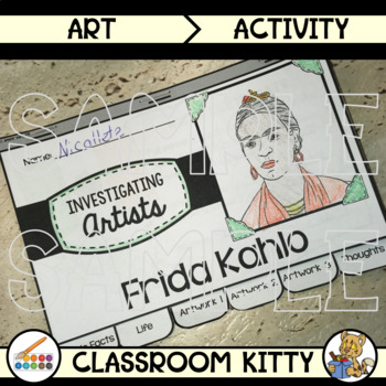 Frida Kahlo Research Tab Book