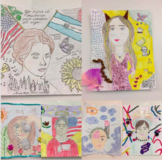 Frida Kahlo Self Portrait   Art Gallery Walk Project   Aut