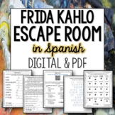 Frida Kahlo Break Out Escape Room for Spanish Distance Learning