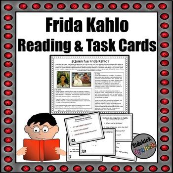 Frida Kahlo: Spanish Reading Comprehension & Task Cards