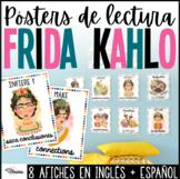Frida Kahlo Theme Reading Posters | Spanish and English