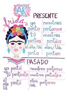 Frida Kahlo Verb Conjugation Poster (-AR verbs)