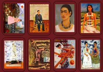 Frida Kahlo Verb Playing Cards