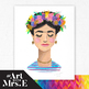 Frida Kahlo | Watercolor Print