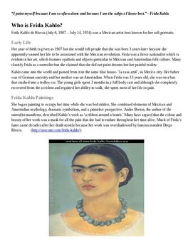 Frida Kahlo Webquest
