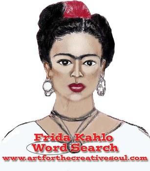 Frida Kahlo Word Search