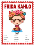 Frida Kahlo-Word Search & Body Parts in Spanish Double Puzzle-Women 's Day