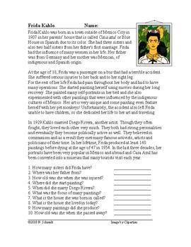 Frida Kahlo and Diego Rivera Biographies: Hispanic Heritage (English Version)