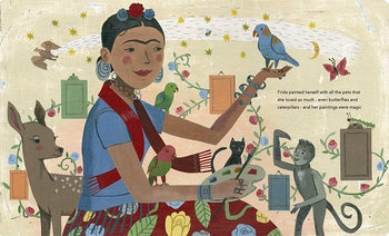 Art Book, Frida Kahlo and Her Animalitos  by Monica Brown and John Parra- Art