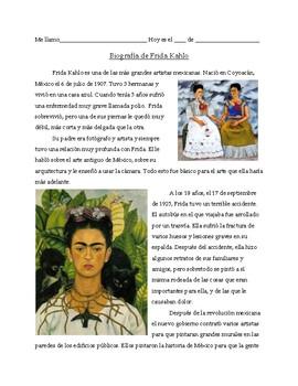 Frida Kahlo: biography, task rotation, and reflection paragraph