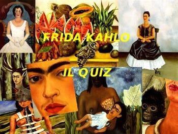 Frida Kahlo gioco interattivo in power point per bambini, vers. personalizzabile