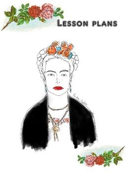 Frida Kahlo lesson plan binder cover