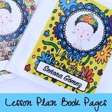 Frida Lesson Plan Book, Grade Book, Substitute Teacher Binder
