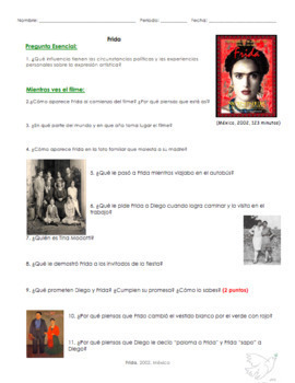 Frida Movie Questions. Preguntas película Frida Salma Hayek | Spanish & English