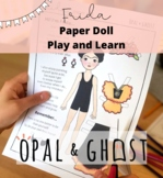 Frida Kahlo Paper Doll Printable; Playful Learning Activity