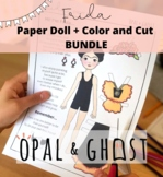 Frida Kahlo Paper Doll and Color and Cut Bundle