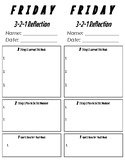 Friday 3-2-1 Reflection