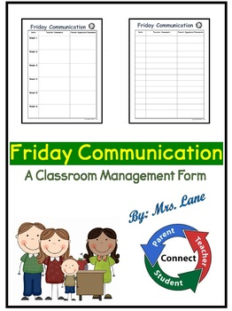 Friday Communication (A Classroom Management Form)