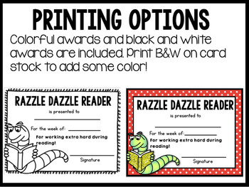 Friday / End of Week  Student Awards  ( Color and B&W )