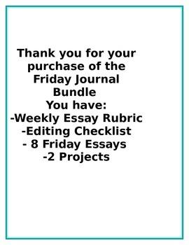 Friday Essay Bundle