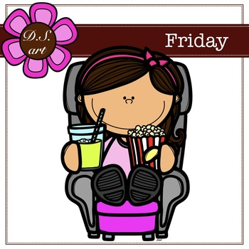 Friday FREE Digital Clipart (color and black&white)
