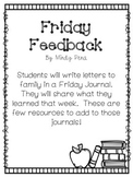 Friday Feedback-Parent Communication Journal