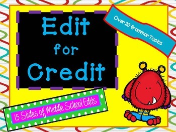 Edit for Credit