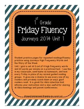 Friday Fluency - Unit 1