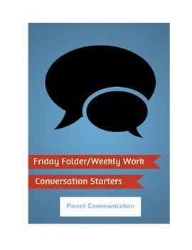 Friday Folder / Weekly Work Conversation Starter