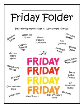Friday Folder Cover