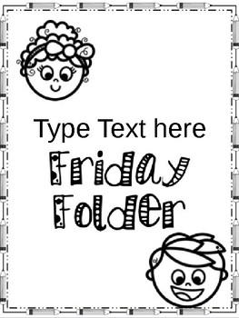 Friday Folder Cover *EDITABLE*