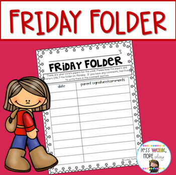 friday folder cover sheet by happy teacher mama tpt