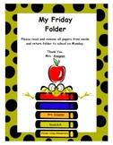 Friday Folder Cover Sheet