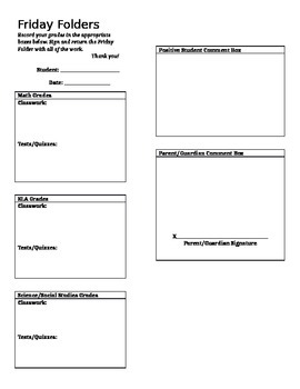 Friday Folder Form