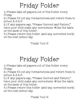 Friday Folder Freebie