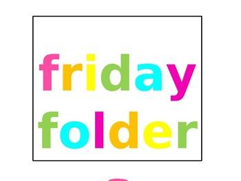 Friday Folder Label